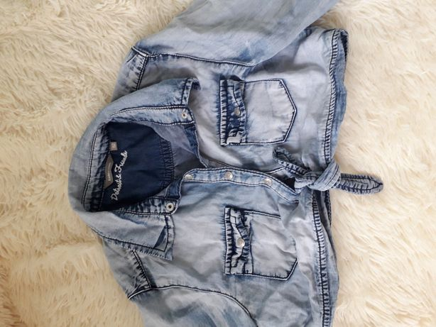 Продам джинсовую короткую рубашку