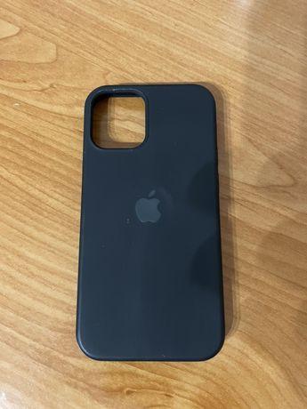 Etui czarne silikon iPhone 12 mini