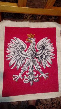 Godło Polski haft krzyżykowy