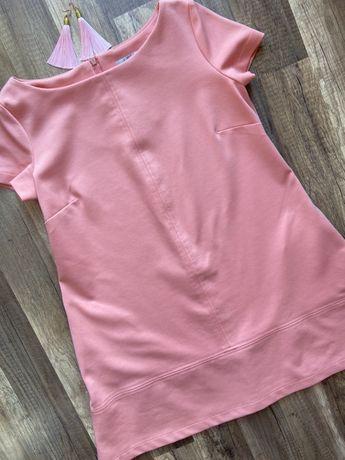 Brzoskwiniowa sukienka w rozm. 36 S