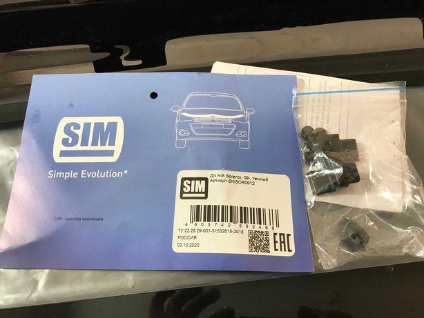 Мухобойка, дефлектор капота Kia Sorento 2009-2012 (SIM)