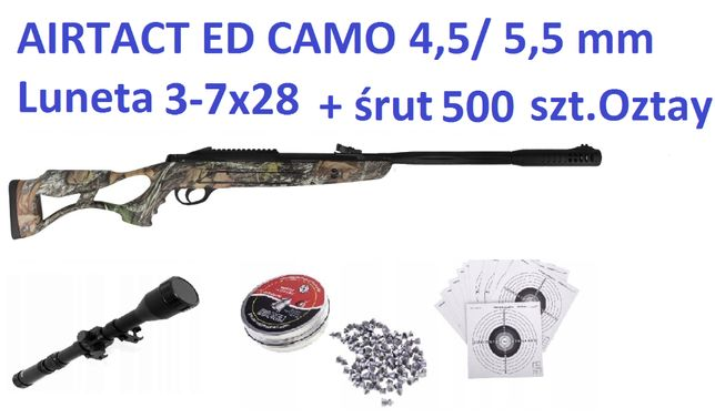 122 01 Airtact Ed Camo + Luneta 3-7x28 Mega Zestaw