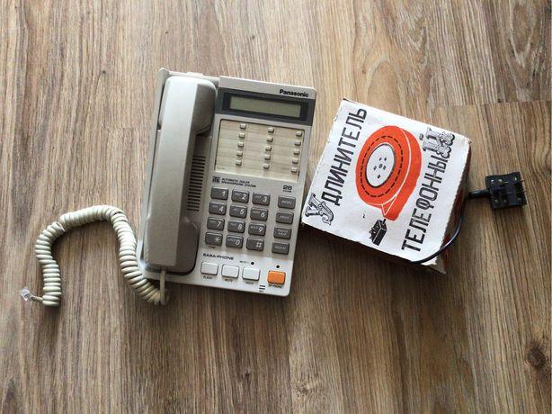 Стационарный телефон Panasonic. Удленитель телефона