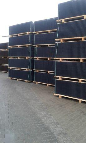 Panele ogrodzeniowe grafit 153 cm fi 5 plus pudmurówka,słupki do panel