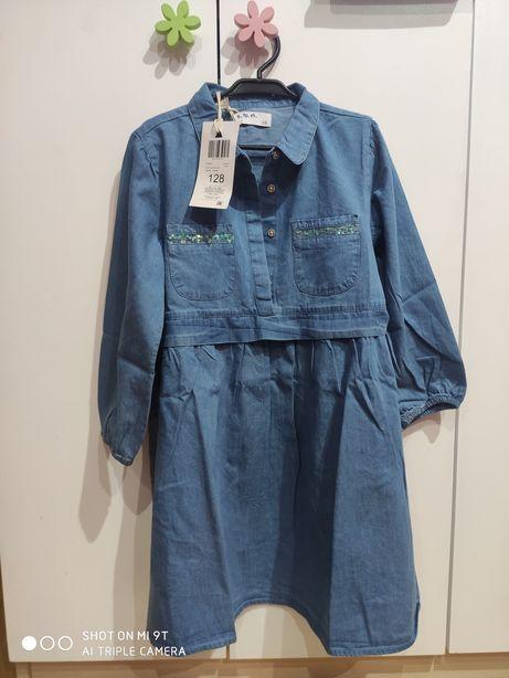5.10.15 Nowa sukienka jeansowa 128