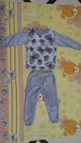 Махрова піжама, костюм,хатній комплект для дівчинки