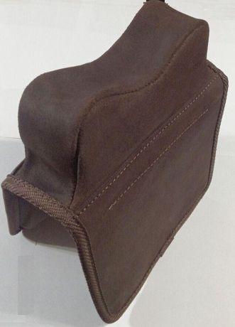 Мягкий упор- подушка для стрельбы, кожаный. Патронташ.Хит продаж!