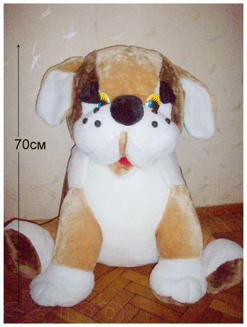 Собака - большая мягкая игрушка