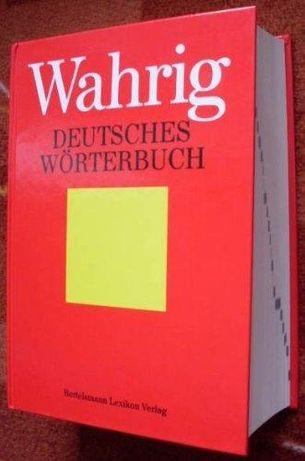 Słownik Niemiecki Deutsches Worterbuch Dictionary WAHRIG GEHARD