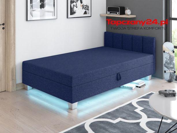 Sofa z pojemnikiem Młodzieżowa Tapczan z wezgłowiem 90/100/110/120 LED
