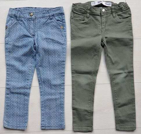 Spodnie jeansy dla dziewczynki 2 szt. 98 104