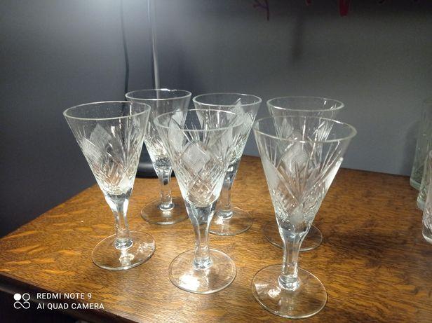 Kryształowe kieliszki 6 sztuk komplet