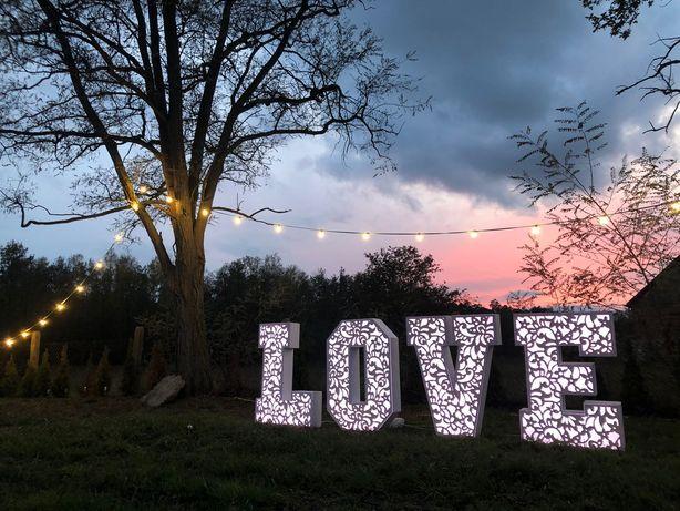 NAPIS LOVE/wesele/ślub/plener
