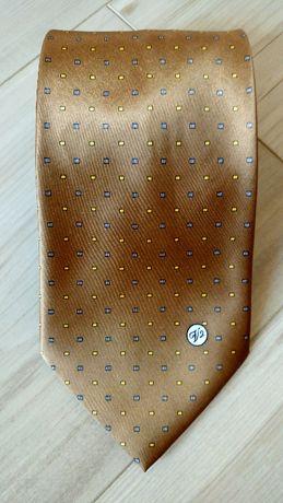 Oryginalny krawat VERSACE CLASSIC V2, odcień złotego, OKAZJA