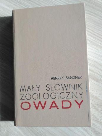 Mały słownik zoologiczny OWADY Henryk Sandner+ slajdy