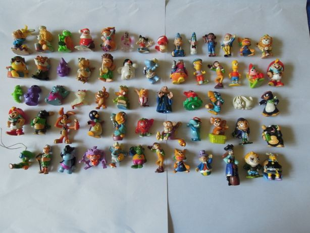 Figurki zabawki z jajek niespodzianek (61+1) sprzedam