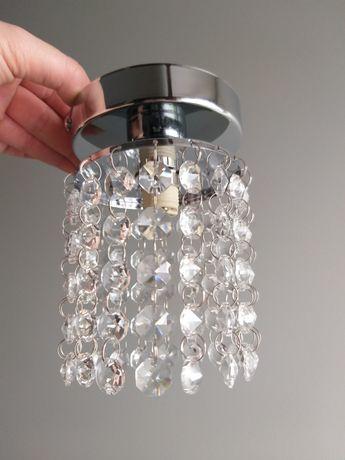 Lampki  wiszące z kryształkami