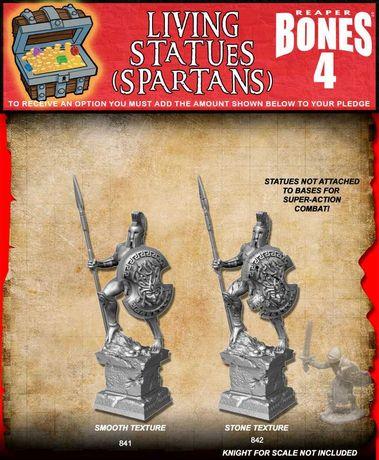 Reaper Miniatures Bones 4 - Living Statue Spartan