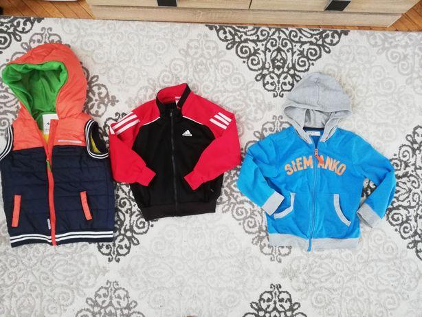 Zestaw ubrań, kamizelka, bluzy, t-shirt, adidas, 51015,cubus 110-116