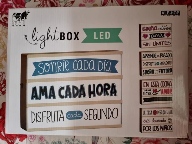 Light Box LED- Decoração