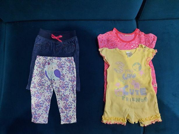 Spodenki i rampersy dla dziewczynki 62-68 cm