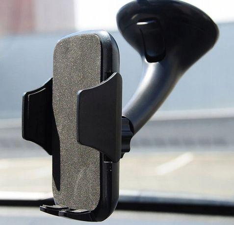 Uchwyt do auta na telefon na szybę czarny