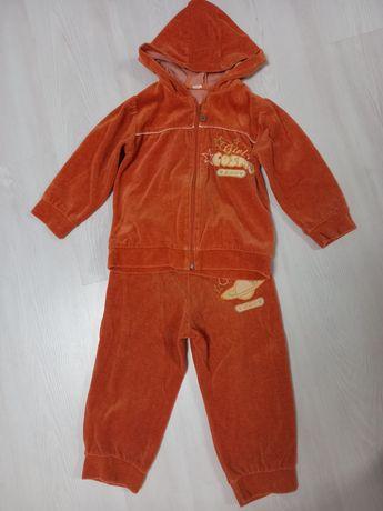 Велюровый костюм 3-4 года