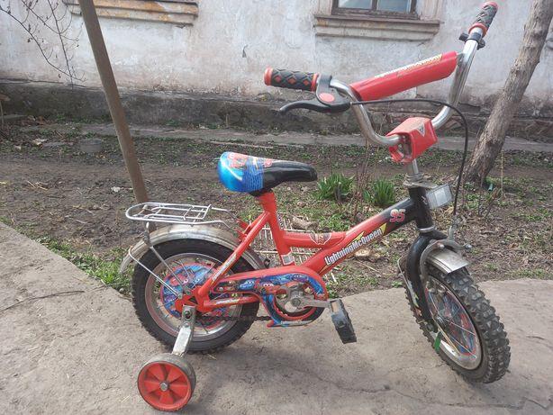 """Велосипед 12""""от 2 до 5лет с дополнительными колесиками"""