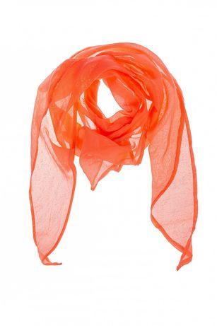 NOWA chusta 5.10.15. apaszka pomarańczowa złote kropki