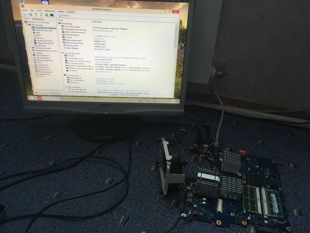 Материнка ноутбука Samsung NP-R530 рабочая зависает при касании