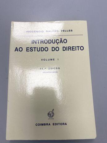Livro Direito - Introdução ao estudo do direito - Inocêncio Telles