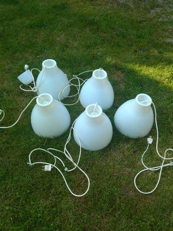 Białe lampy 5sztuk
