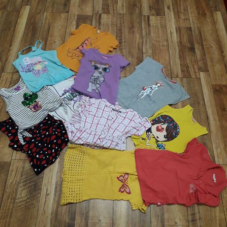 Лот качественных футболок для девочки 6-8 лет