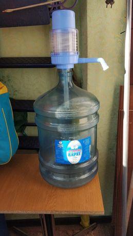 Помпа водяная и бутыль 20 литров