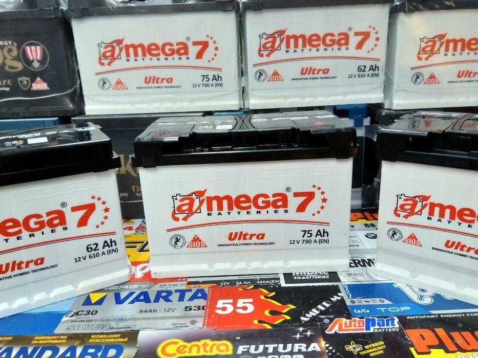 Akumulator Megatex A-Mega Amega Ultra 7 75Ah 790A CA770 E44 Ukraina Kraków - image 1
