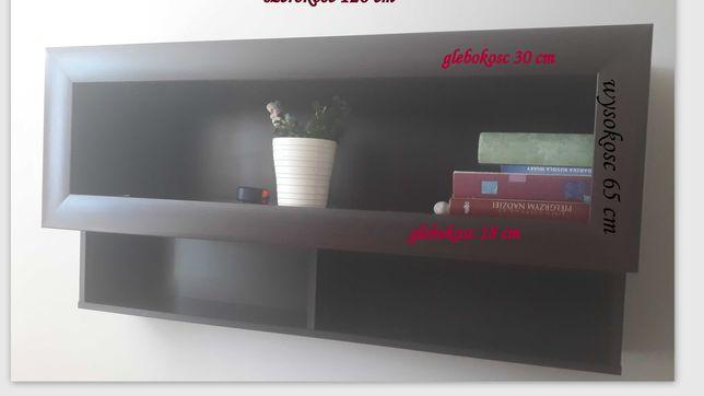 półka w kolorze c. brąz
