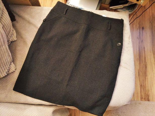 Spódnica 48 damska ciemno szara