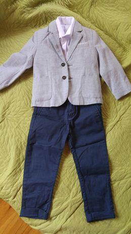 Zestaw marynarka koszula x2 spodnie 86