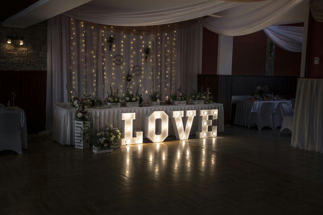 Mały napis LOVE świecący 70cm
