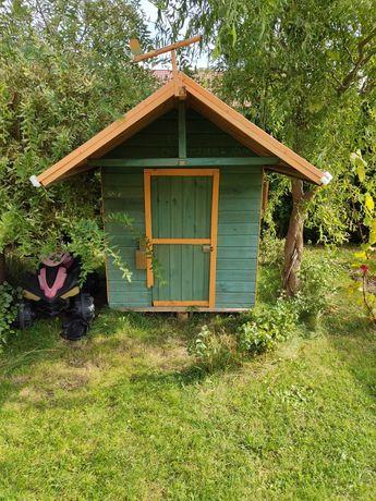 Domek dla dzieci ogrodowy drewniany