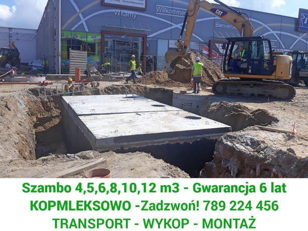 Szamba, Szambo Betonowe z wykopem Warszawa - 4,5,6,8,10,12m, zbiorniki