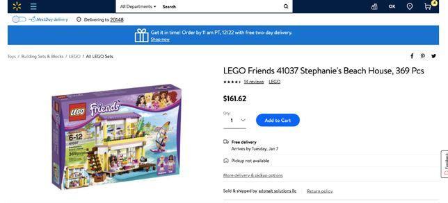 Лего Lego Friends 41037 Пляжный дом Стефани