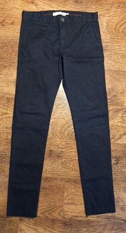 spodnie H&M, granatowe rurki męskie, 170cm