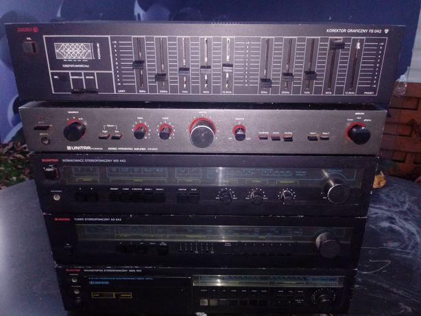 Wieża Technics EH-770 Unitra Diora radio, magnetofon, tuner, korektor