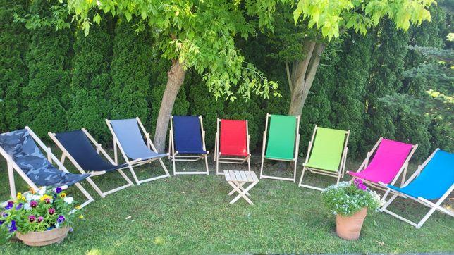 POLSKI Leżak DREWNIANY plażowy ogrodowy,MIX kolorów ! ATEST!