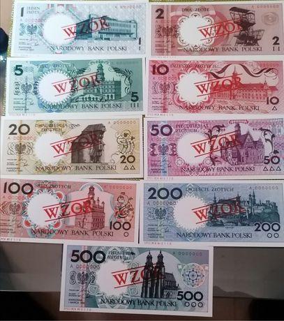 Banknoty nieobiegowe, polskie miasta, kopie,