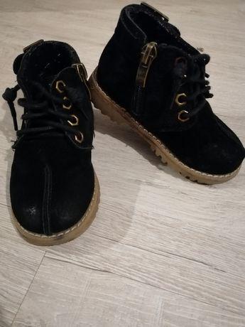 Детские ботинки замшевые 23 размер