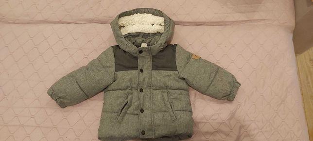 Zimowa kurtka kurteczka firmy H&M rozmiar 80