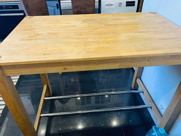 Mesa Cozinha em Carvalho + 4 Cadeiras