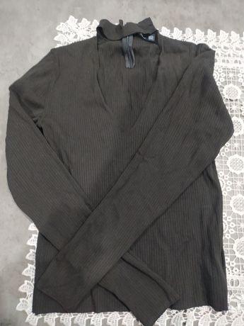 Bluzka, koszulka ZARA, czarna